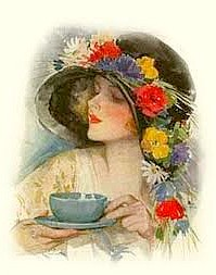 lady having cup of tea